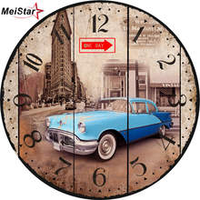 hot deal buy meistar vintage decorative round clocks home office cafe kitchen bath wall watches silent wall clocks elegant wall clocks