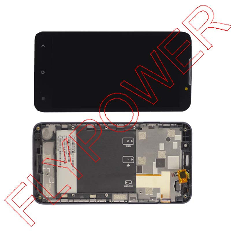 For HTC Desire 516 D516 LCD display screen with touch screen digitizer + Frame assembly by free shipping for htc desire 816g lcd screen display with touch screen digitizer assembly by free shipping 100