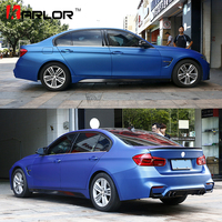 152cmX18m Premium Polymeric PVC Light Blue Ice Matte Chrome Vinyl Film Car Styling Wraps Whole Body Stickers With Air channel