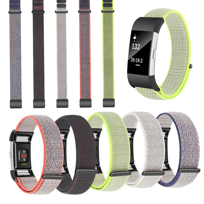 Sports Nylon Loop Watch Band For fitbit charge 2 Magnetic Closed Buckle Correa Replacment Belt Wrist Straps for fitbit charge2 fitbit watch