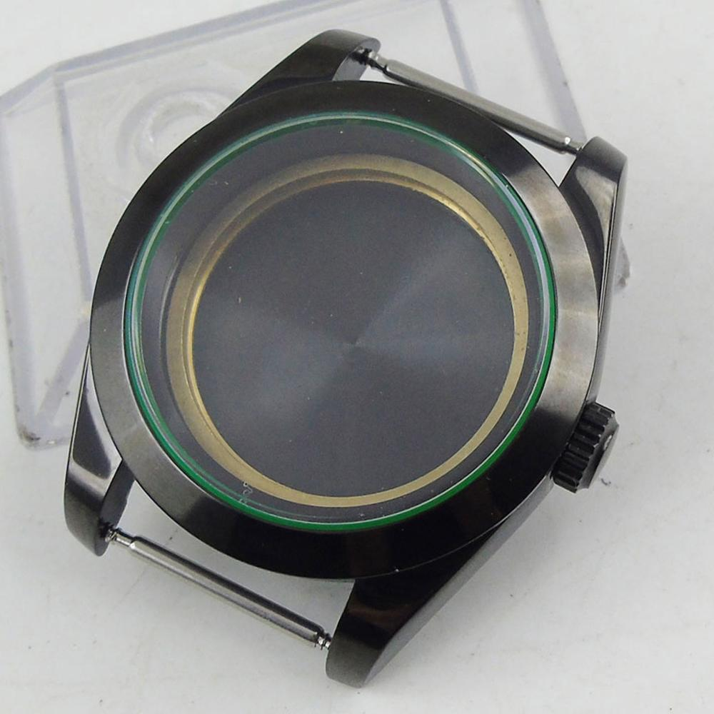 Polished 39mm Sapphire Glass PVD Coated Automatic Watch Case Fit For MIYOTA 8215 Automatic Movement