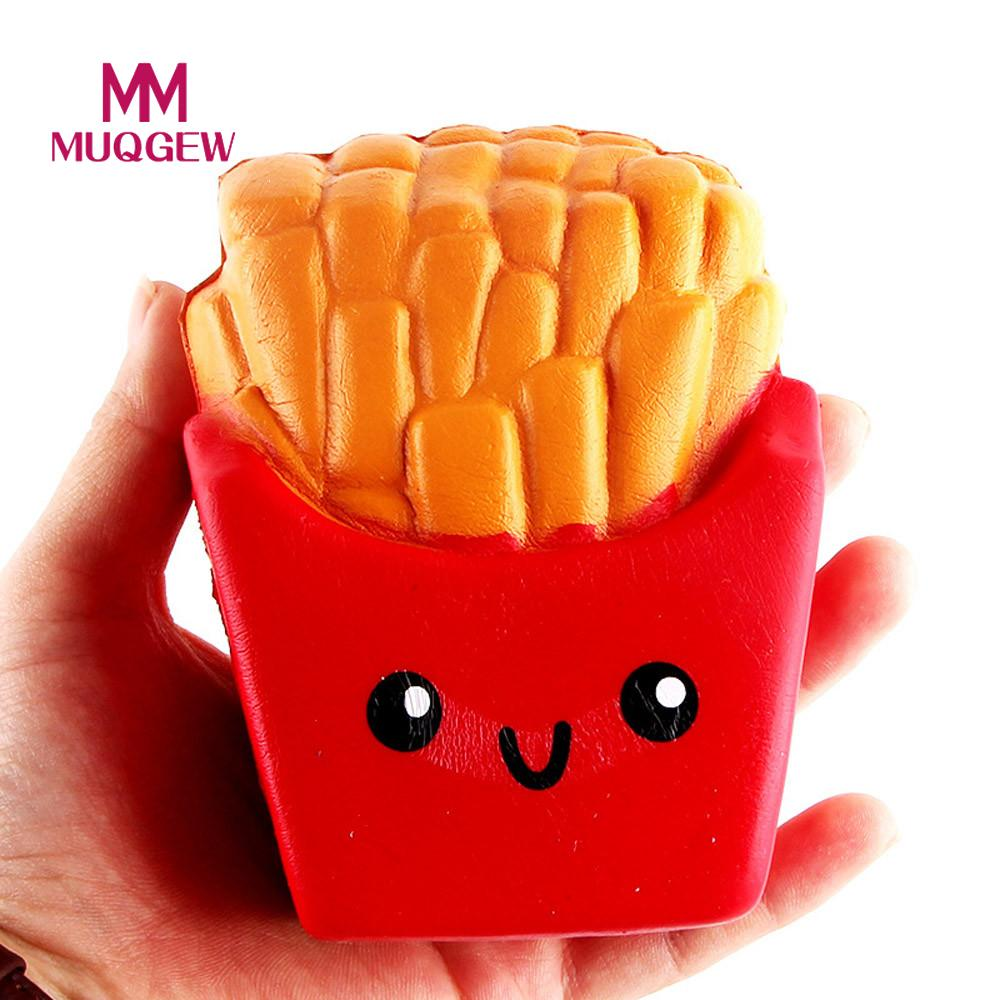 Soft Squishy Squishi French fries Funny Toy Food Squeeze Stress Square Alternative Humorous Light Hearted Decompression