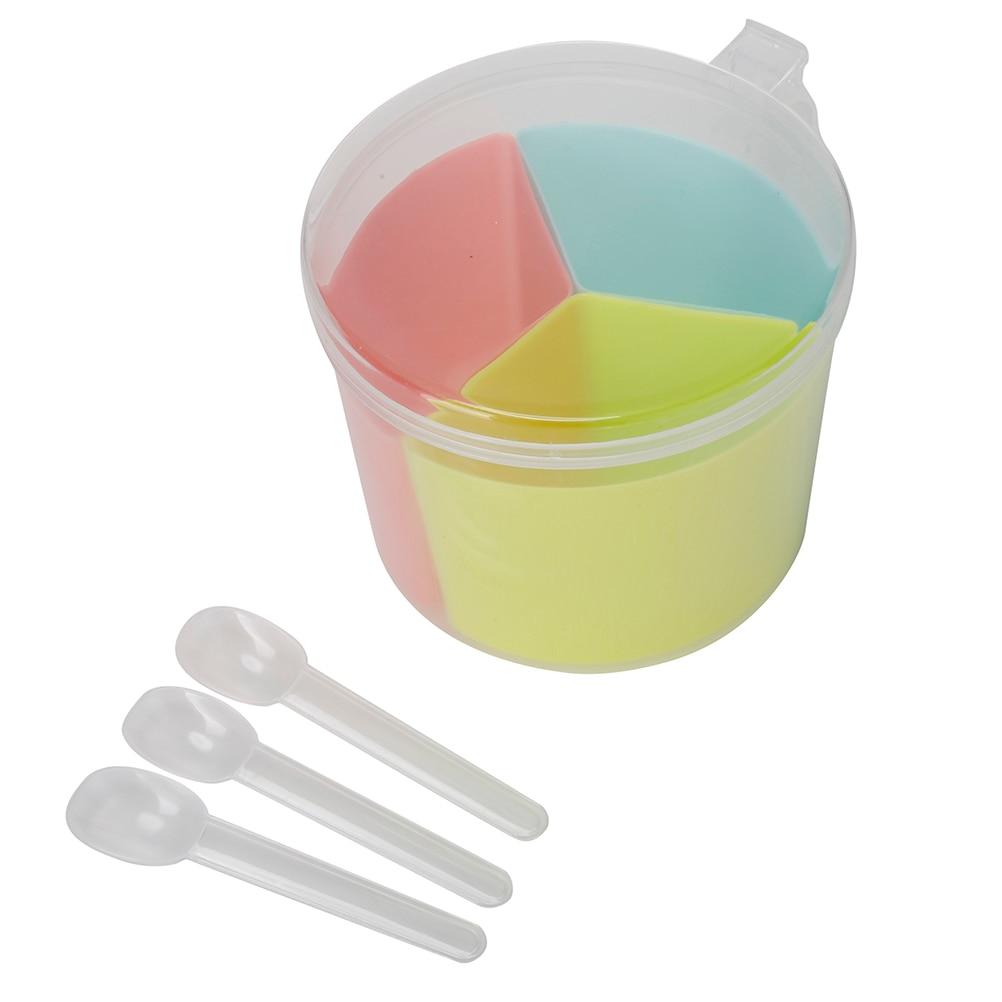 Yellow sugar bowls with lids - Spice Jar Seasoning Can Sugar Bowl Transparent Colorful Lid Seasoning Box 1 Set Kitchen Tool Salt
