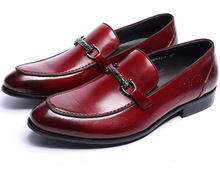 Black / Reddish brown summer loafers mens casual shoes genuine leather dress shoes flats mens wedding shoes with