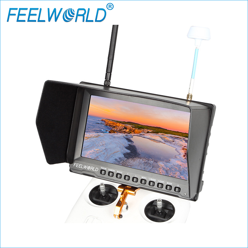FPV821 8 Inch FPV Monitor with Built-in Battery Dual 5.8G 32CH Diversity Receiver Feelworld 8inch Wireless Drone LCD Monitors