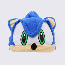 Free Shipping Sonic The Fleece Plush Hat Cosplay Costumes Blue Toys Brinquedos for Adult Teenager Gifts(China)
