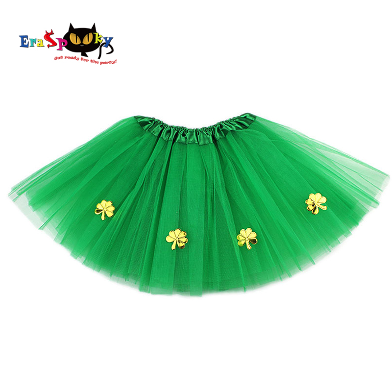 Aspiring Eraspooky Girls Green Dress Ireland St.patrick Day Costume For Kids Carnival Costume Girl Tutu Skirt With Gold Shamrocks Novelty & Special Use Kids Costumes & Accessories