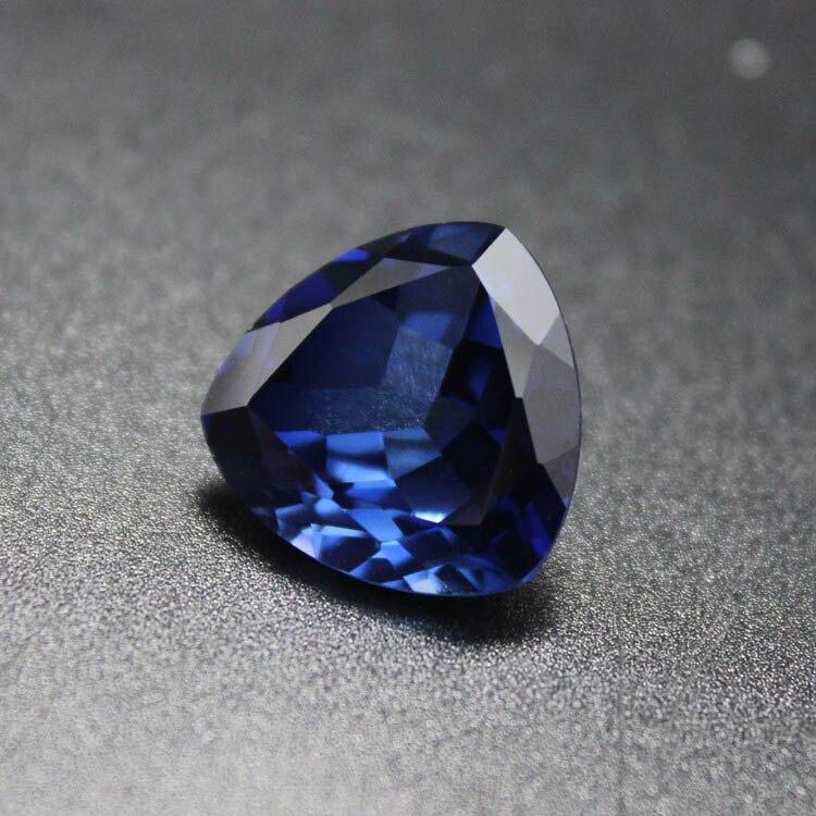 Fat Triangle AAAAA trillion shape blue stone loose beads