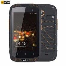 AGM A2 тройной проверки телефон 2 ГБ + 16 ГБ IP68 Водонепроницаемый 4.0 дюймов Android 5.1 Qualcomm MSM8909 Quad Core