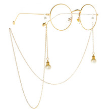 Reading Glasses Chain For Women Metal Sunglasses Beaded Eyewear Laces Gold Faste