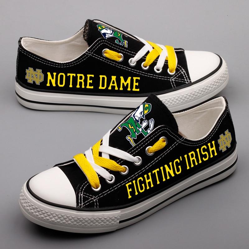 Caliente impreso 2018 hombres mujeres unisex Notre Dame lucha irlandesa diy zapatos para los fans de regalo tamaño 35-44 0430 -1