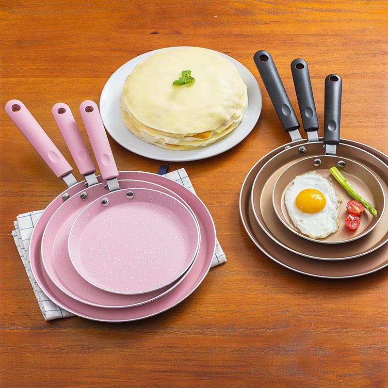 6/8/10 Inch Pancake Maker Aluminum Alloy Whitford Coating Non-stick Comfortable Handle Steak Egg Crepe Frying Demould Easily