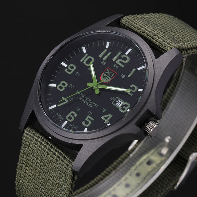 0f2643ce7b5 XINEW Fashion Designer Brand Original Army Watches Men Nylon Band Stainless  Steel Back Casual Date Quartz