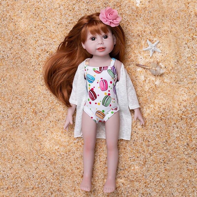 Poupée de renaissance 18 pouces silicone souple reborn enfant mignon réaliste Bonecas fille menina de surprise poupée jouet ouvert à la main