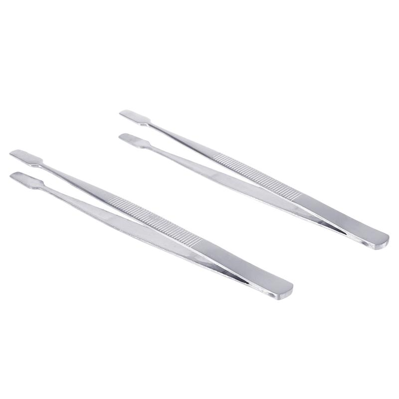 WINOMO 2pcs/Pack Stamp Tweezers Portable Tweezers High Quality Philately Stamps Collector Tools (Silver)WINOMO 2pcs/Pack Stamp Tweezers Portable Tweezers High Quality Philately Stamps Collector Tools (Silver)