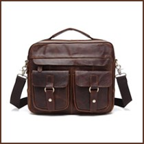 male crazy horse leather handbags