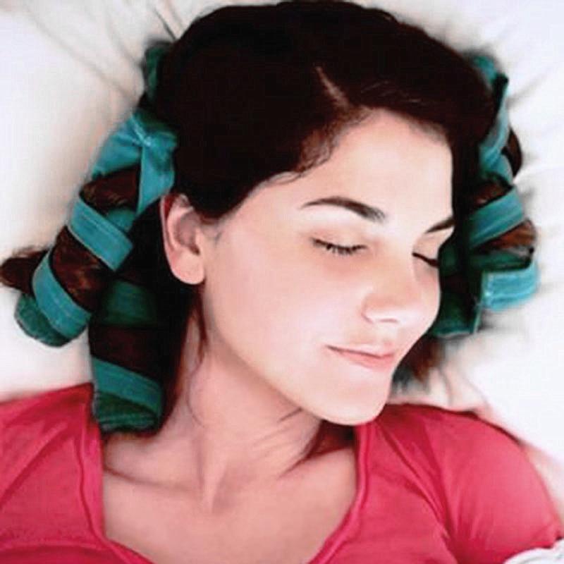Купить с кэшбэком 8/12Pcs Sleep Styler Heat-free Nighttime barber accessories Hair Curlers tools for Short or Long Fine Hair Soft Sleep Roller