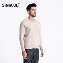 SIMWOOD 2019 Spring Winter New Sweater Men Slim Fit Solid Color Knitted Pullovers Design Raw Original Edge Clothes 180422