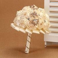 prachtige kristallen boeket broche bruiloft boeket bruiloft accessoires bruiloft bruids bruidsmeisje kunstmatige bloemen boeketten