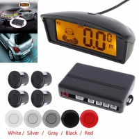 SALE 4 Car Parking Sensor Professional Car Reversing Parking Radar System With LCD Display
