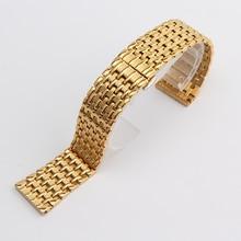 18 mm 20 mm 22 mm moda brillante correa hermosa veta correas pulsera para mens ladys relojes accesserios Rosegold oro plata