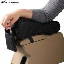 MALUOKASA Car Universal Armrest Box Mat Car Interior Armrest Pad Set PU Leather Car-Styling Liner Automobile Accessories Sales