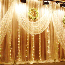 3x3M LED Wedding fairy Light christmas garland Curtain string outdoor new year Birthday Party Garden Decoration