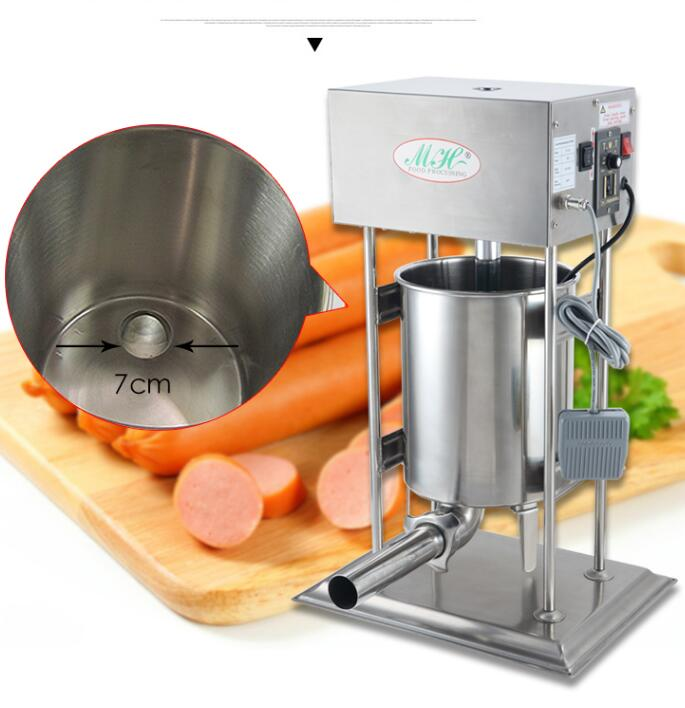 18 electric Stainless Steel Sausage Maker Manual Sausage Stuffer Machine meat Making Filling Vertical commercial Sausage Filler