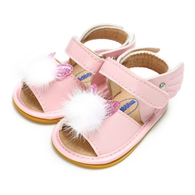 2019 Summer Baby Sandal Boys Girls Shoes Solid Wing Princess Shoes Infant Toddler Soft Rubber Sole Prewalkers Anti-Slip Sandals