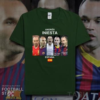 5d2e91f8bebd Andres Iniesta camiseta 2018 jerseys España fútbol estrella Camiseta 100%  algodón fitness camiseta streetwear ropa casual verano 20