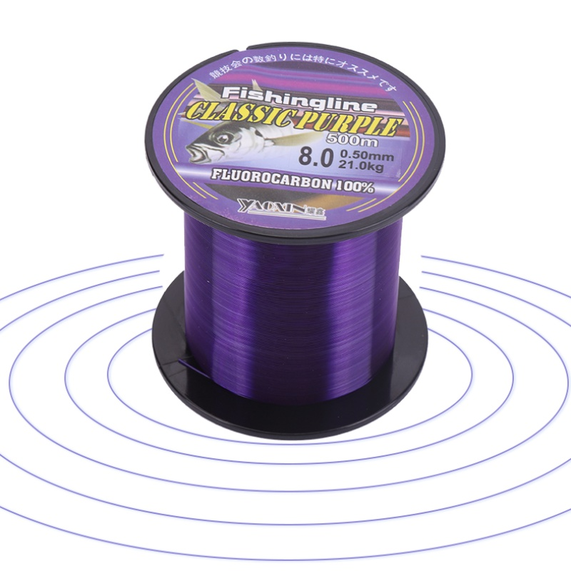 Fishing Line Super Strong Nylon Not Fluorocarbon Tackle Non-Linen Multifilament Purple Fishing Line 100/150/200/300/500M