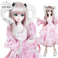 22 56cm Sheep Animal BJD Doll 1/3 SD Dolls 22 inch 19 jointed doll + Fulll Set + Makeup + Glass eyes + Girl Gift Toy Fairy