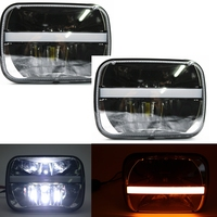 Bakuis 2piece DOT approved 5X7 Rectangular LED Headlights w/DRL Turn Signal for Wrangler Replacement H6054 H5054 H6054LL 6053