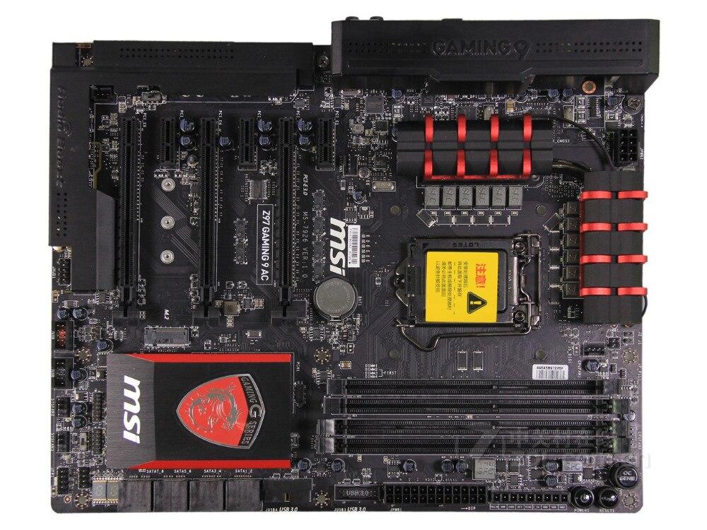 original motherboard MSI Z97 GAMING 9 AC Z97 LGA 1150 DDR3 Socket LGA 1150 i3 i5 i7 DDR3 16G SATA3 USB3.0 free shipping ...