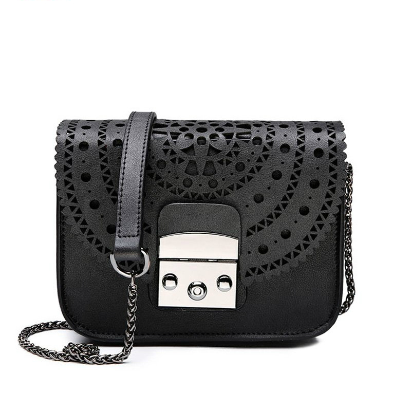 2018 Crossbody Bags for Women Vintage Hollow Out Women Clutches Mini Small Women 39 s Bag Chain Shoulder Bag Women 39 s Fashion Bags in Shoulder Bags from Luggage amp Bags