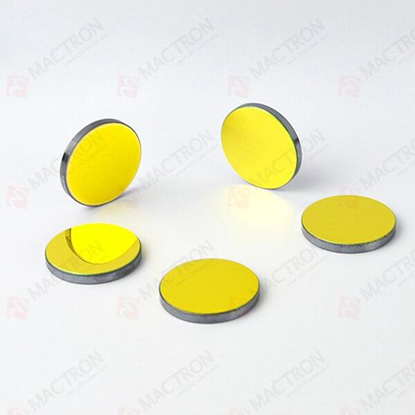 3szt 25mm Dia. Si. Pokryte złotym silikonem lustrzane odbicia laserowe do grawerowania laserowego