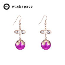 European and American popular new simple delicate zircon pearl fashionable woman earrings jewelry