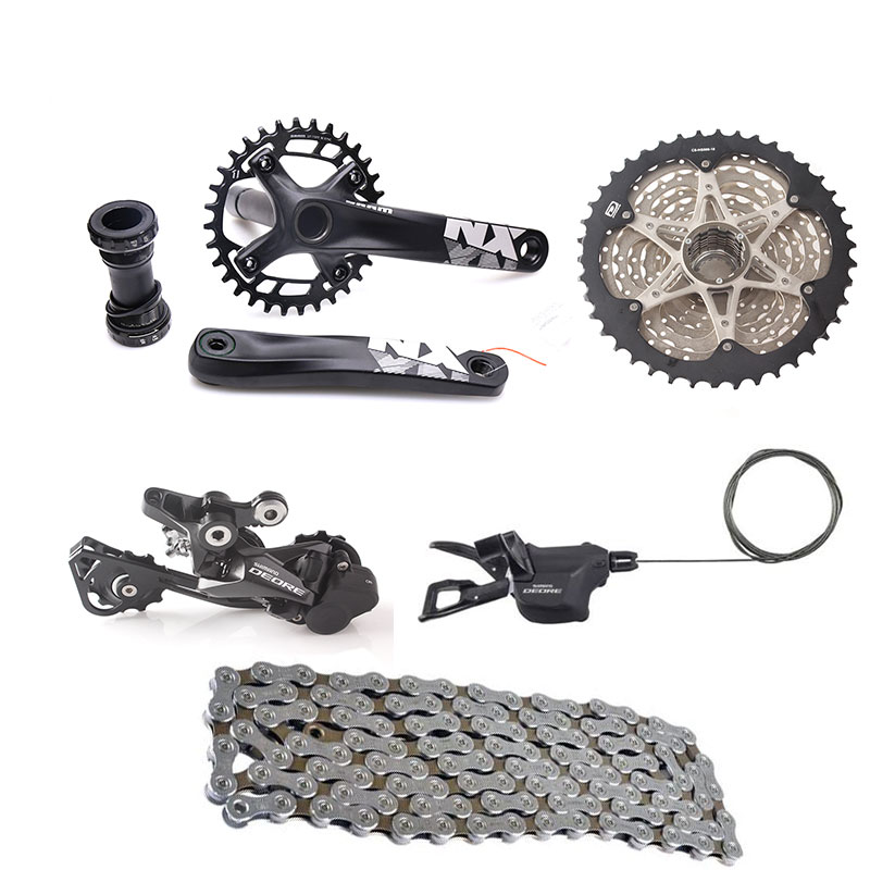 SHIMANO DEORE M6000 10S Speed Bicycle Groupset 11-42T with NX Crankset & Shifter Lever & Rear Dearilleur & Cassette & Chain shimano br bl deore m6000 hydraulic disc brake lever