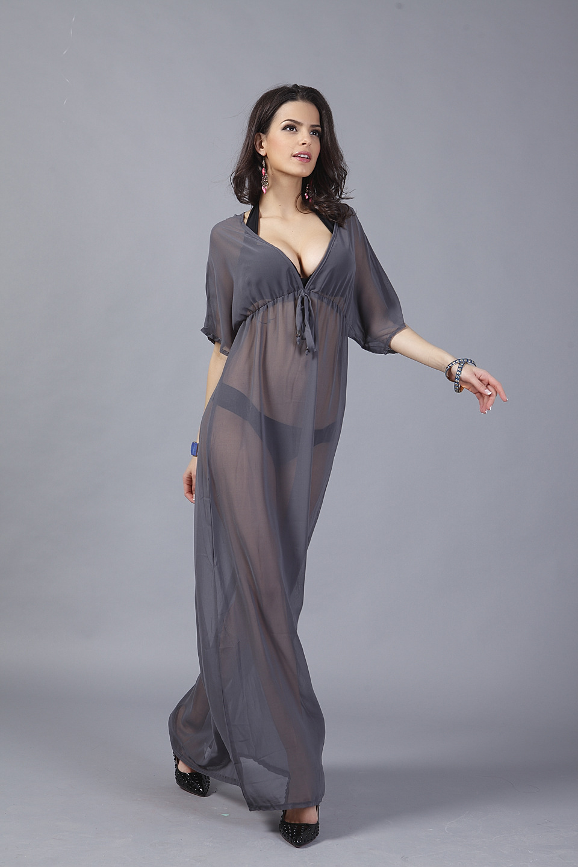 Aliexpress.com : Buy VA Woman Beach Cover Hollow Out Chiffon Smock ...