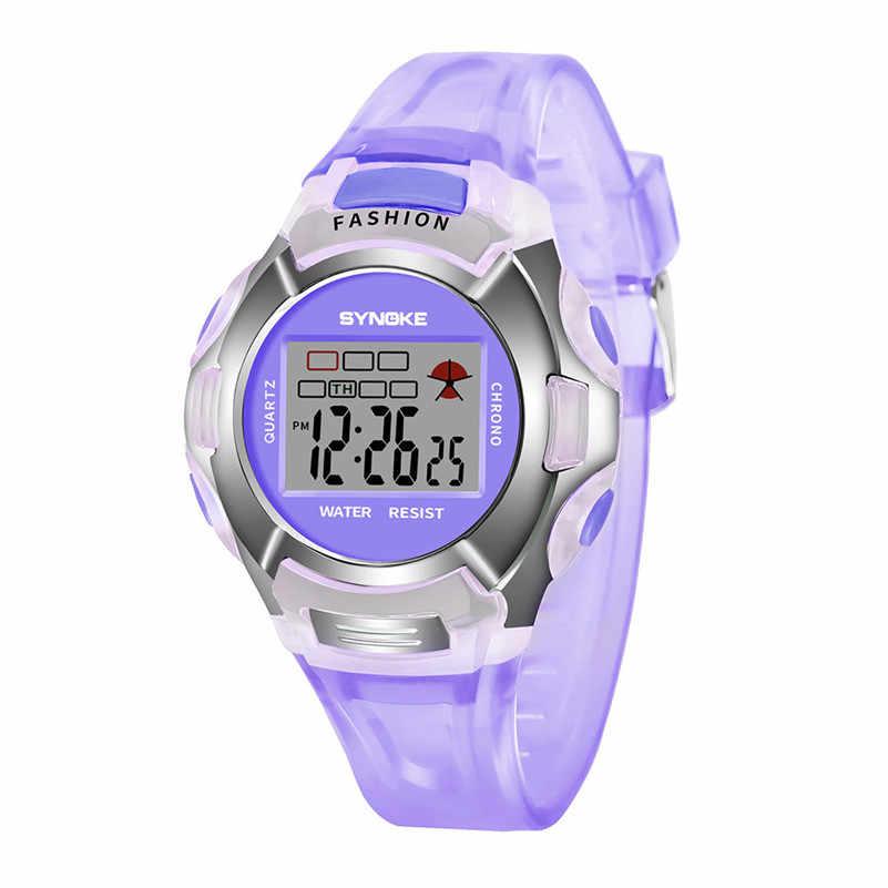 Enfants étudiants regarder garçon fille alarme Date numérique multifonction Sport lumière LED montre-bracelet meilleur cadeau #2AP24 * YL