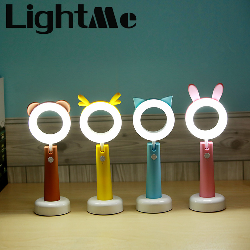 LightMe New Rechargeable USB LED Desk Lamp Novelty Table Night Lamp Battery USB Night light For Children Study icoco usb rechargeable led magnetic foldable wooden book lamp night light desk lamp for christmas gift home decor s m l size