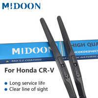 Balais d'essuie-glace hybrides MIDOON pour Honda CR-V (CRV) bras à crochet année de modèle de 1995 à 2016 2005 2006 2007 2008