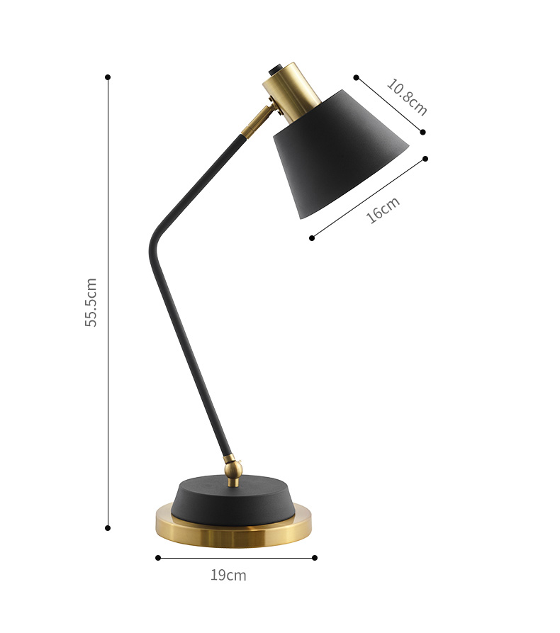 Modern Sophisticated Metal Desk Lamp
