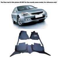 Custom Inner Floor Mats Foot Pads Carpets Protective Cover Artificial Leather For Honda Accord 2004 2005 2006 2007