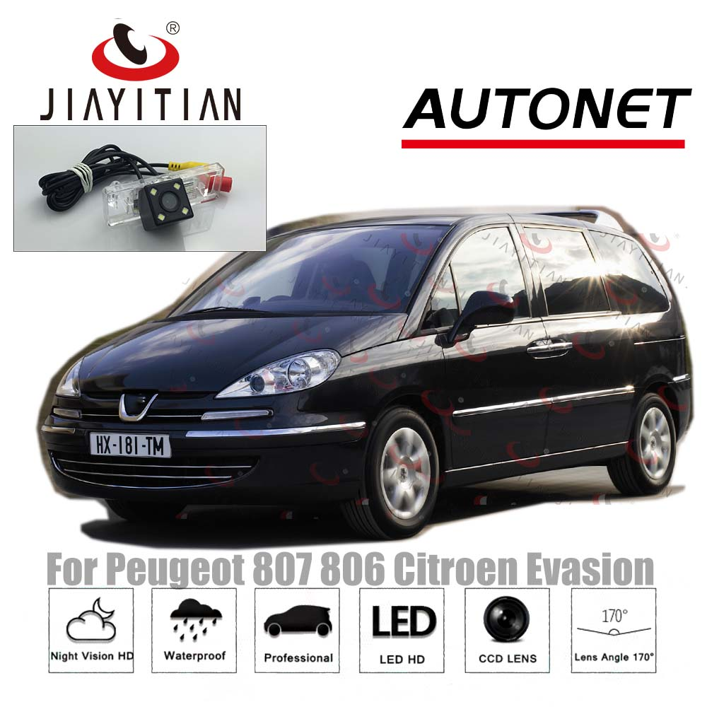 JiaYiTian Rear View Camera For Peugeot 807 806/for Citroen Evasion CCD/Night Vision/License Plate Camera Parking Assistance