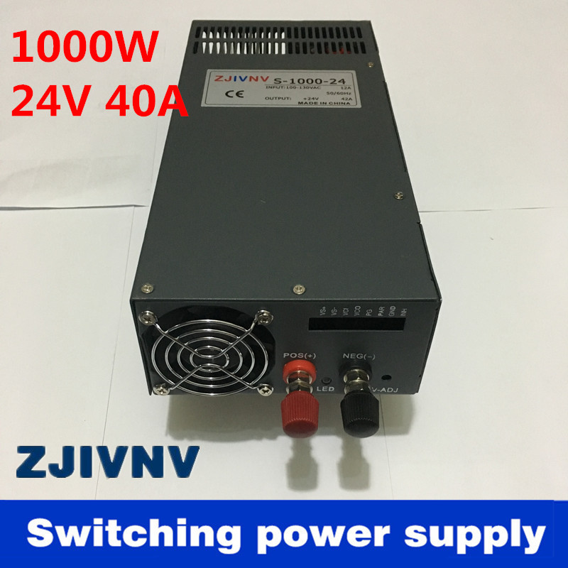 цена на New Arrival Cooling fan Voltage Transformer LED Display DC single output 24v 1000w 40a switching power supply high quality