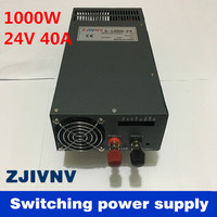 New Arrival Cooling fan Voltage Transformer LED Display DC single output 24v 1000w 40a switching power supply high quality