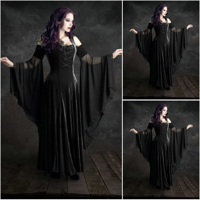 Aliexpress Buy Customer Made Black Renaissance Dress Vintage
