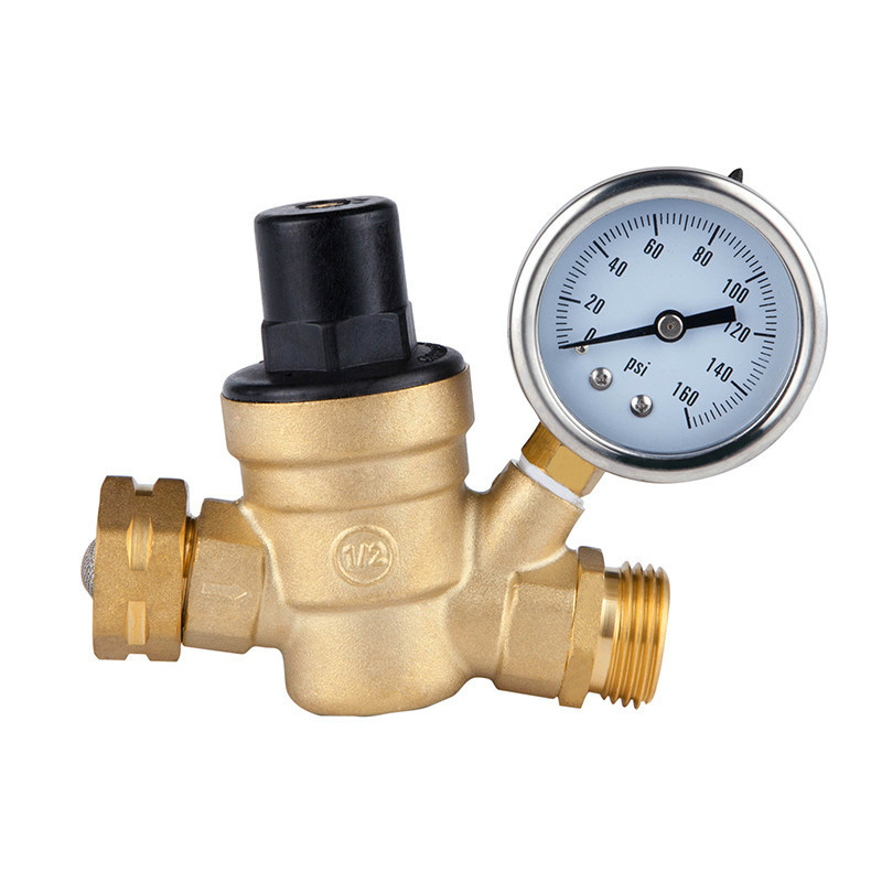 3/4 DN20 Brass water pressure regulator with Gauge pressure maintaining valve water pressure reducing valve RV accessories valve 2dn50 brass water pressure regulator without gauge pressure maintaining valve tap water pressure reducing valve