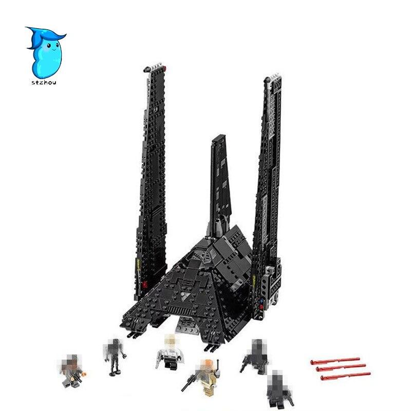 StZhou 863pcs LEPIN STAR WARS Rogue One Emperor fighters starship Model Building Kit Blocks Bricks Toy Compatible legoe сумка emperor mk20380 2014